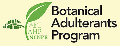 ABC-AHP-NCNPR Botanical Adulterants Program