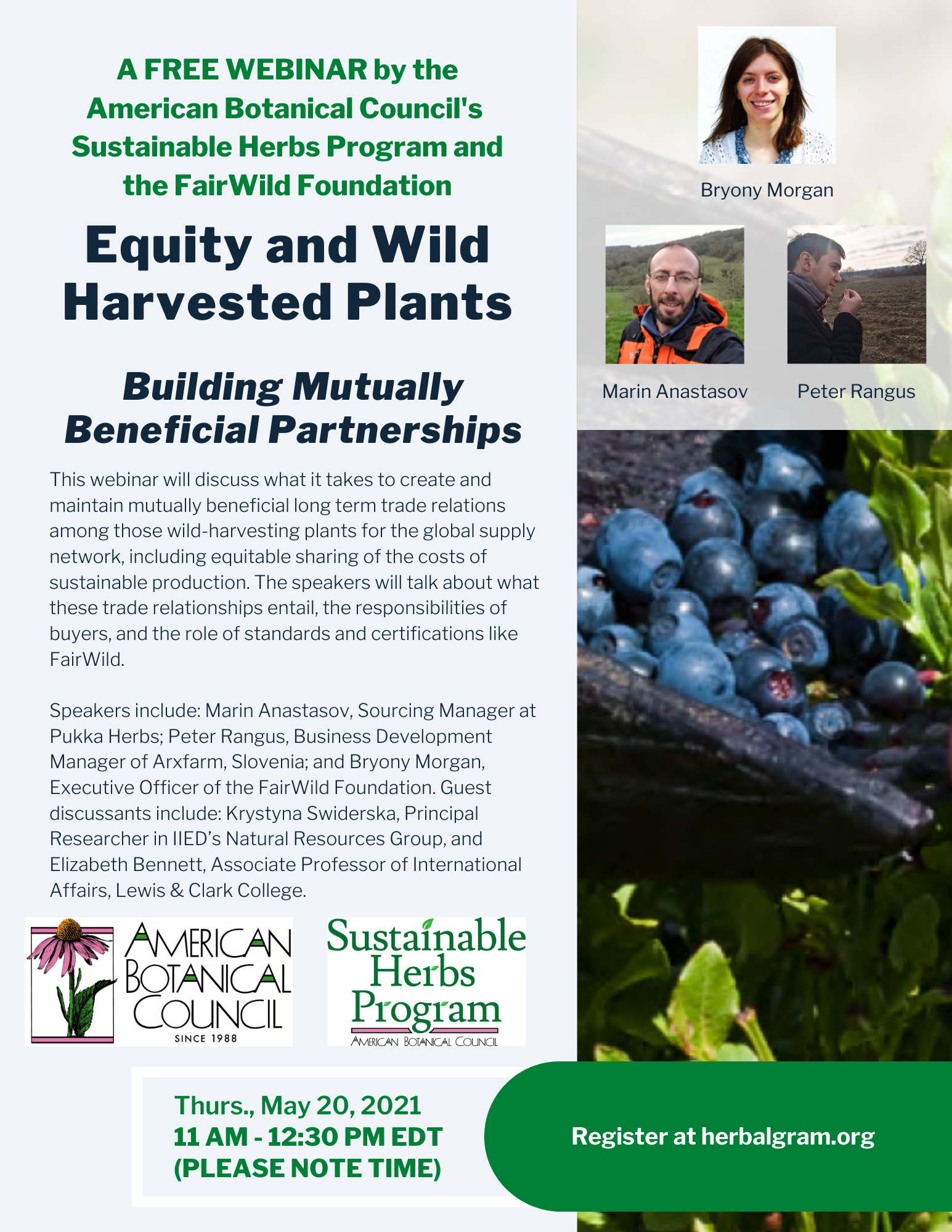 flyer equity and wild harvested plants