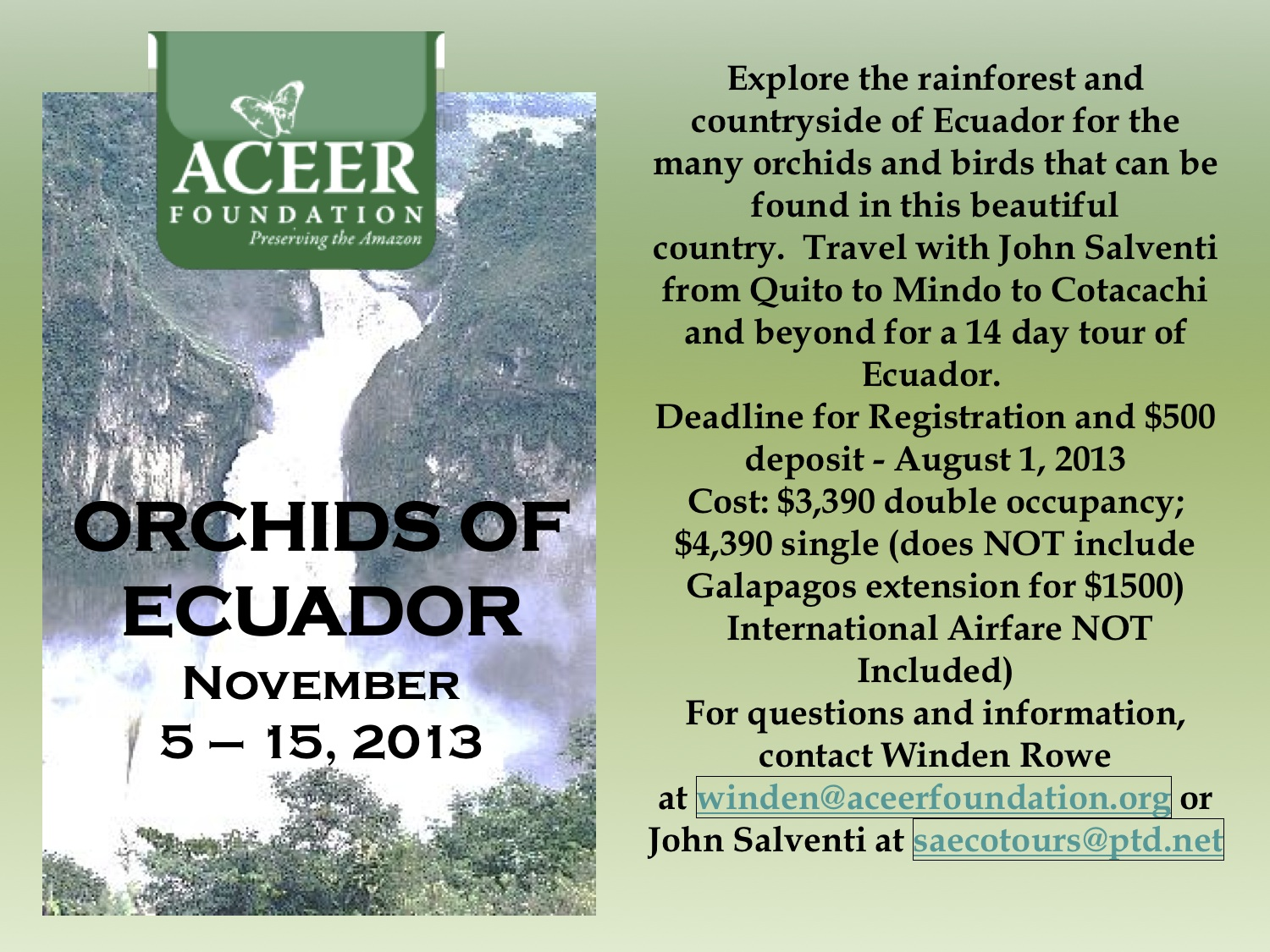 ACEER: Orchids of Ecuador