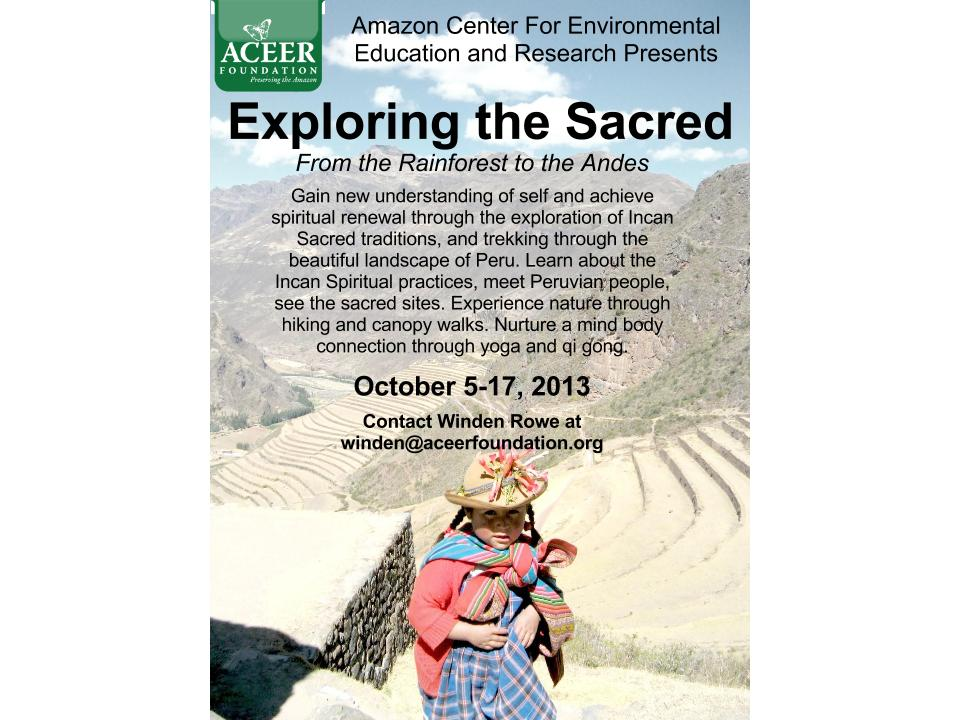 ACEER: Exploring the Sacred